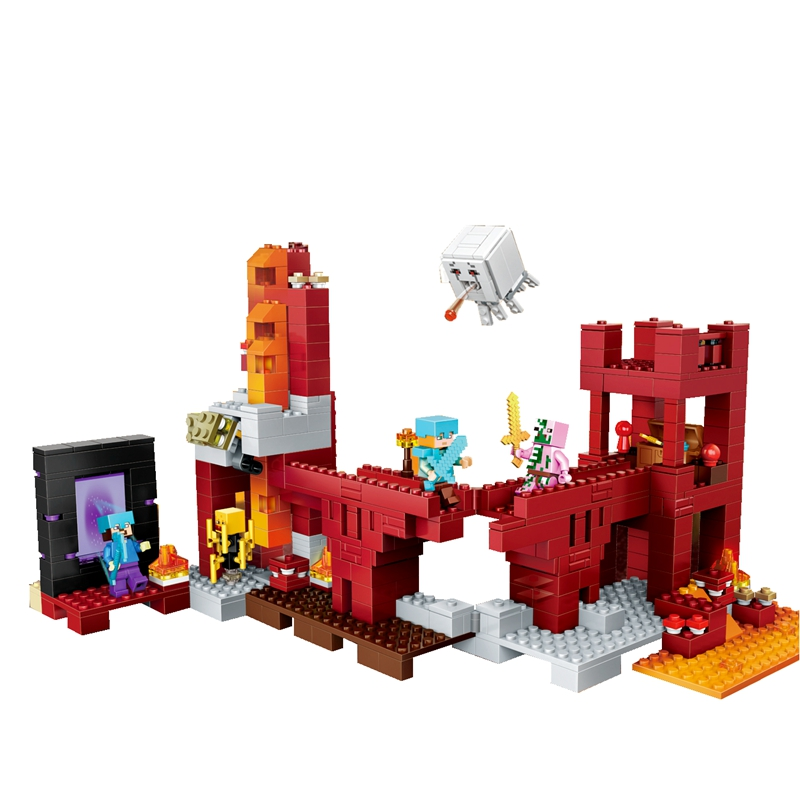 NEW my world series 79147 The Nether Fortress model Building Blocks Compatible 21122 Classic Architecture toys for children mr froger loz dutch windmill diamond block world famous architecture series design diy building blocks classic toys children