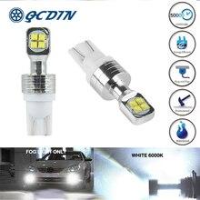 купить QCDIN T10 W5W 2525 Car Signal Lamp Side Wedge Light 8 LED SMD White 6000K 80W 1500LM Car Daytime Running Light Bulb Lamp 12V дешево