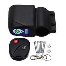 Motorcycle Bicycle Lock Cycling Security Lock Wireless Remote Control Vibration Alarm 110dB Motorcycle Bicycle Anti-Theft Alarm