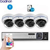 Gadinan 4CH 5.0MP Home Security NVR POE CCTV Camera System 5MP SONY IMX335 4MP Audio Sound Outdoor Night Vision Surveillance Kit