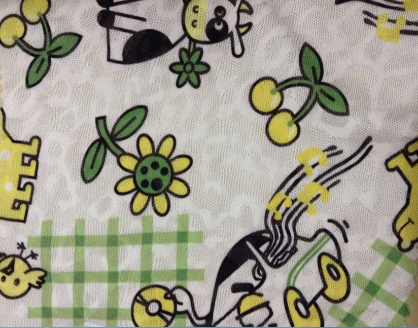 Free shippig 150cm width cartoon printed polyester stretch for Fabric for children s clothes
