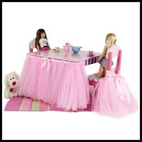 ベビーチェアテーブルスカートメッシュチュールチュチュテーブル椅子スカート用結婚式誕生日パーティークリスマスベビーシャワーの装飾ドロップシップ