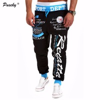 2017 New Fashion Men Letter Print Pants Hip Hop Joggers Pants Male Trousers Mens Joggers Solid