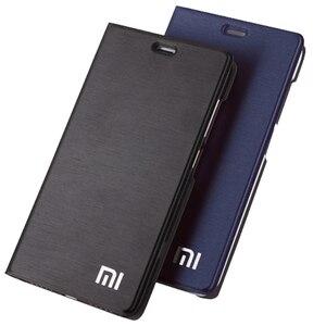 "Image 1 - Xiao mi rode Mi note 5 case global versie Note5 Flip cover pu case [originele oem] MI rood mi note 5 pro case protector Glas 5.99"""