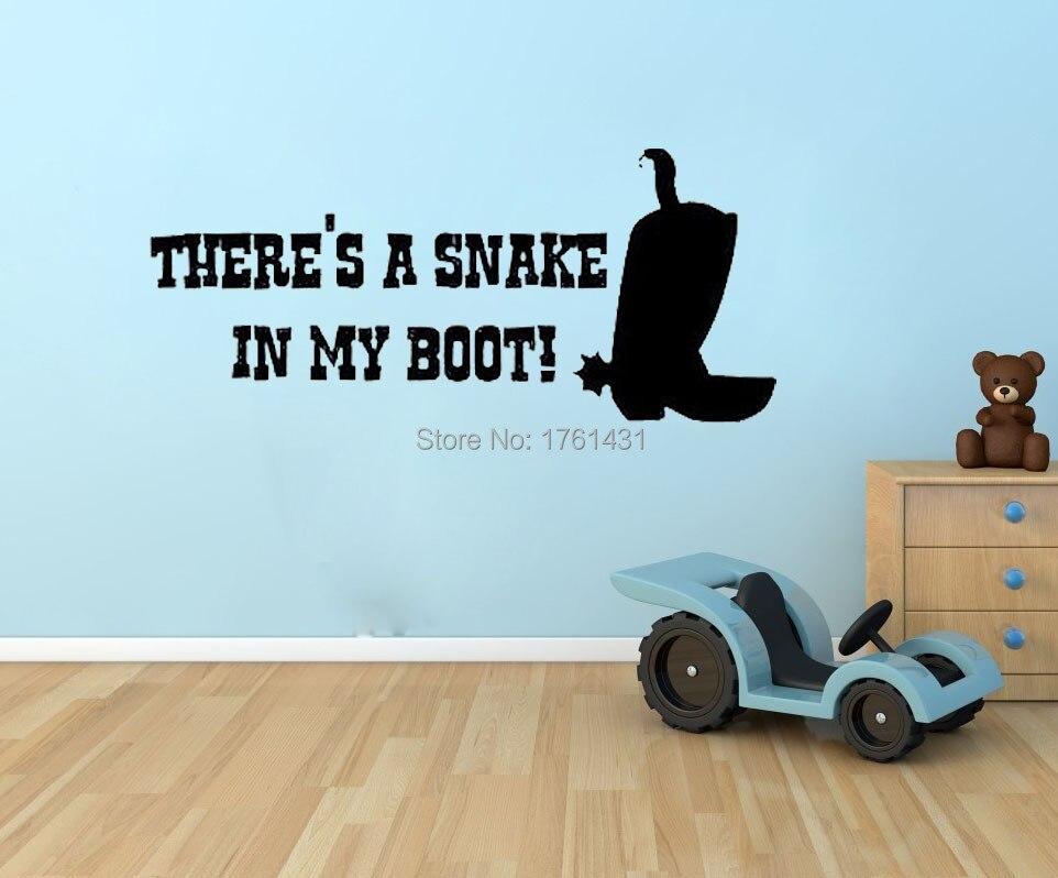 serpiente en boot toy story woody cowboy tatuajes de pared de vinilo pegatinas home decor nursery