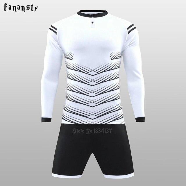 Online Shop Men soccer jerseys custom football uniforms long sleeve ... 968d1f857