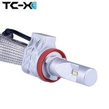 TC-X Lumileds LED Ampuller H11 9006/HB4 9005/HB3 H4 Hi/Lo Araba far Kiti Daldırma Işın Ana Işın Sis Işık Değiştirilmesi 55 W halojen