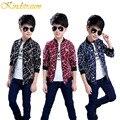 Kindstraum primavera outono meninos moda casaco de algodão outwear jaqueta crianças marca new striped padrão chidren roupas casuais, MC367