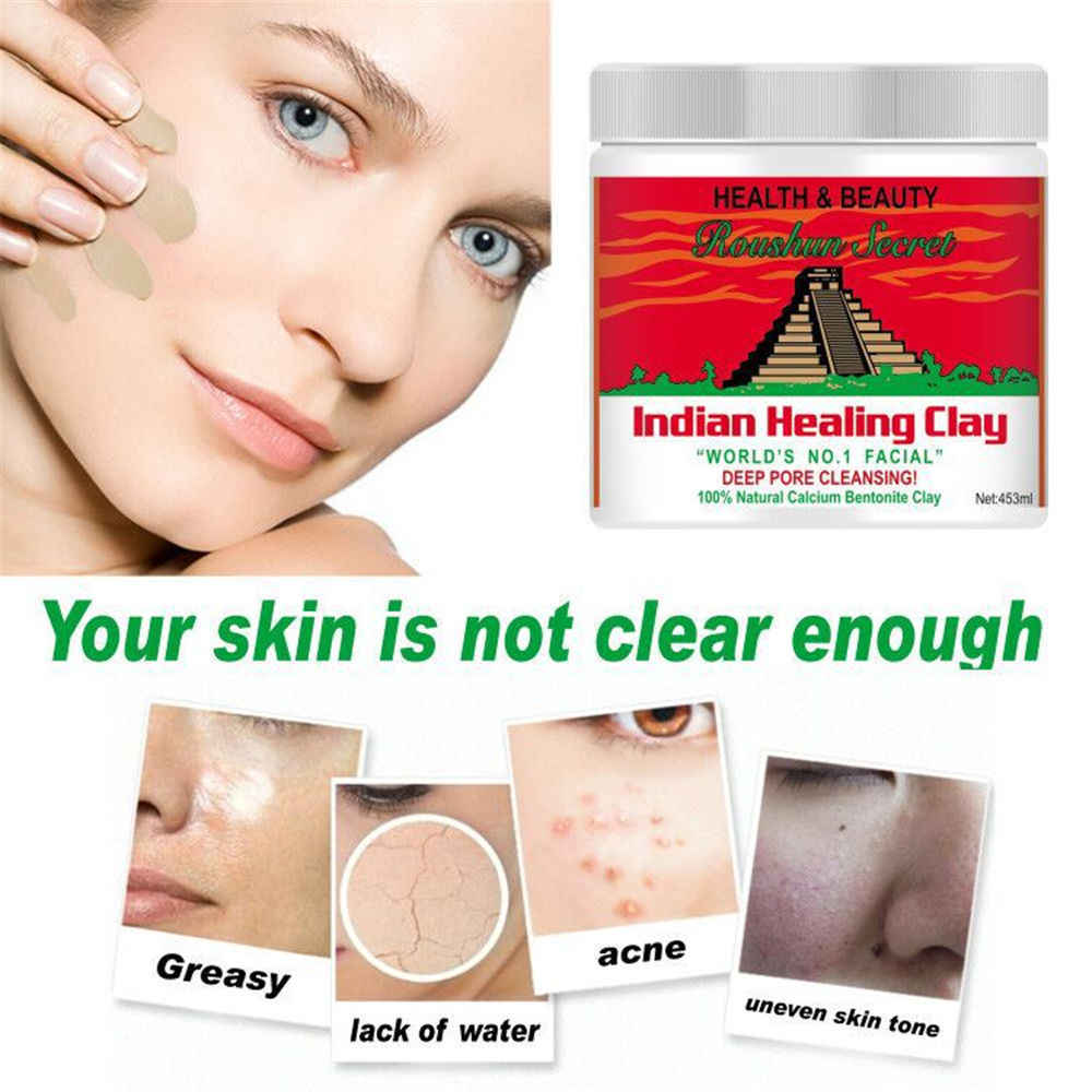 Indian Healing Clay Face Mask Skin Care Deep Blackhead Remover Pore Cleaner Facial Body Mask 0 8 Pound Aliexpress
