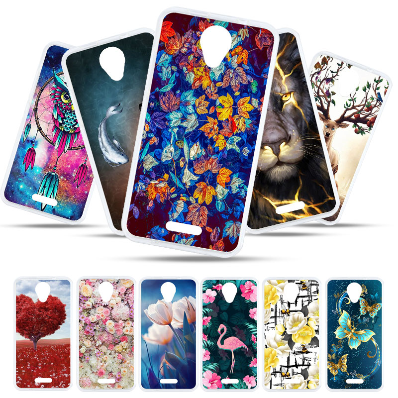 Bolomboy Painted Case For <font><b>BQ</b></font> <font><b>5057</b></font> <font><b>Strike</b></font> 2 Case Silicone Soft TPU Cases For <font><b>BQ</b></font> BQS <font><b>5057</b></font> Cover Wildflowers Cute Animal Bags image