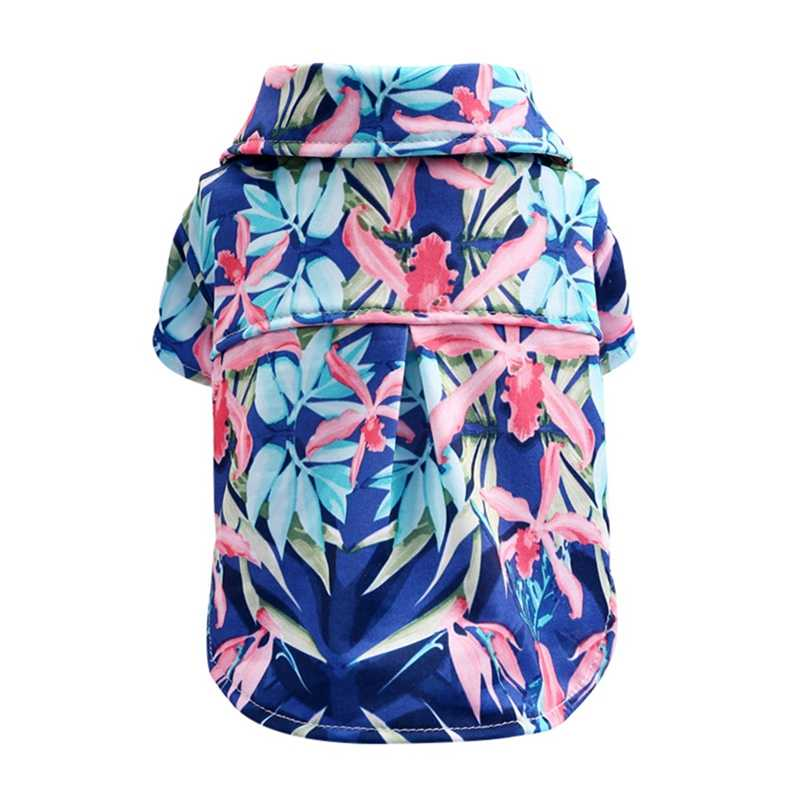 Summer Casual Canine Floral Pet Small Dog Vest Shirt Clothes Hawaiian Pattern Puppy Cat t Shirt Dress Clothing Pets Beach Shirts
