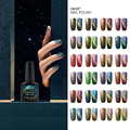 Elite99 1Pcs 10ml UV Chameleon Gel Nail 3D Magnetic Cat Eye Soak Off UV Gel Polish Glitter Varnish 24 Colors Available
