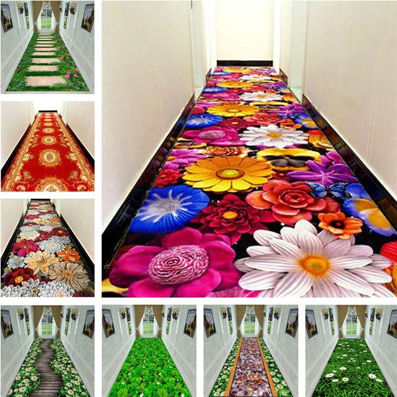 3D creative fleur herbe tapis DÉSHERBAGE tapis Couloir TAPIS Chambre Salon Table à Thé Tapis Cuisine Salle De Bain Antidérapant Tapis