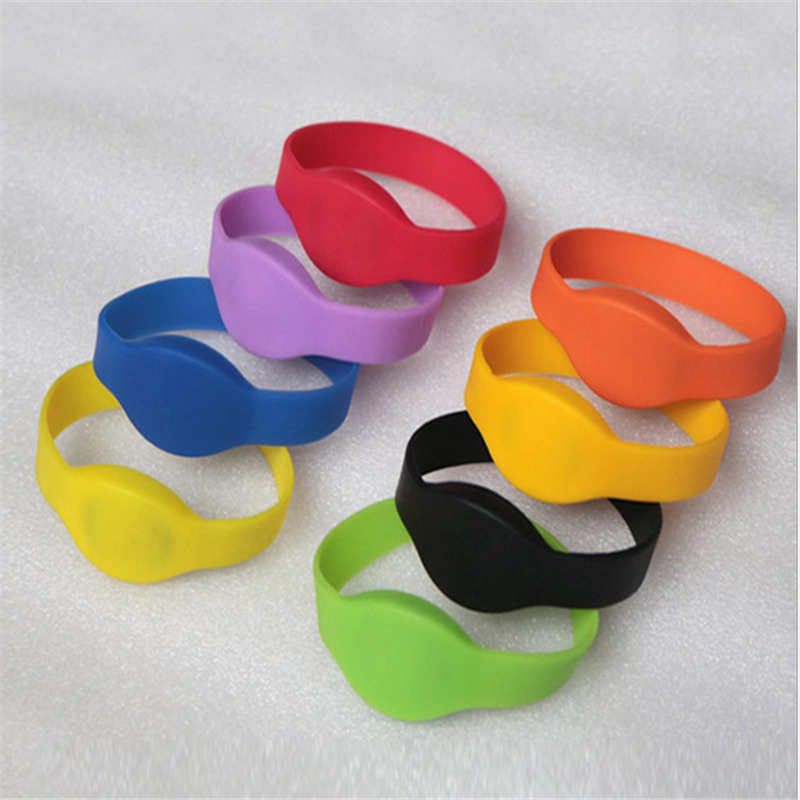 OWGYML 5pcs/lot 125khz EM4100 TK4100 RFID Wristband Bracelet ID Card Silicone RFID Band Read Only Access Control Card NFC Tags