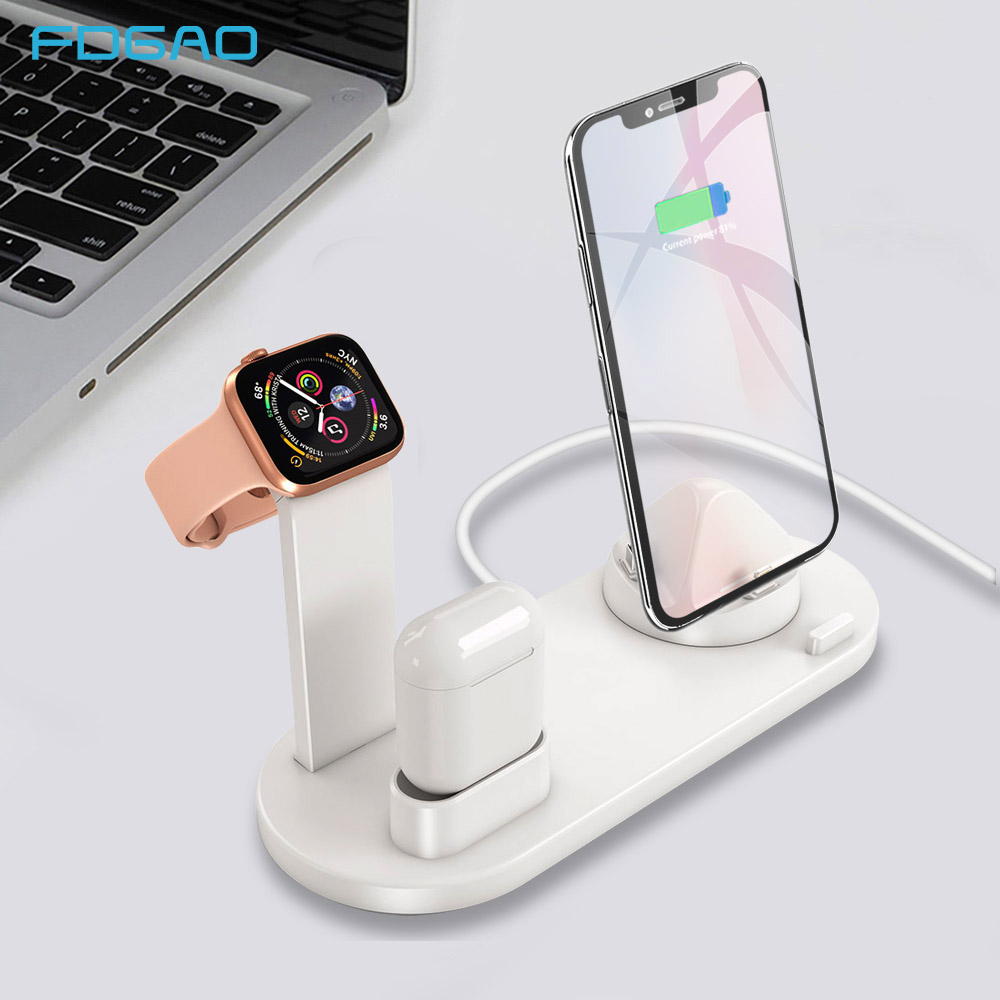 FDGAO Charging Dock Station Bracket Stand Holder For IPhone 11 Pro X XR XS MAX 8 7 Plus For Apple Watch Series Airpods Charger