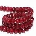 Special pedra natural red jasper 5x8mm encantos jade jasper facetada rondelle ábaco solta pérolas fazer jóias diy 15 polegada my4326