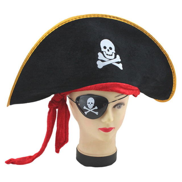 1c554c83f79 Halloween accessories captain JACK hat caribbean pirate hat skull pirate hat  piracy hat Corsair cap festival party supplies