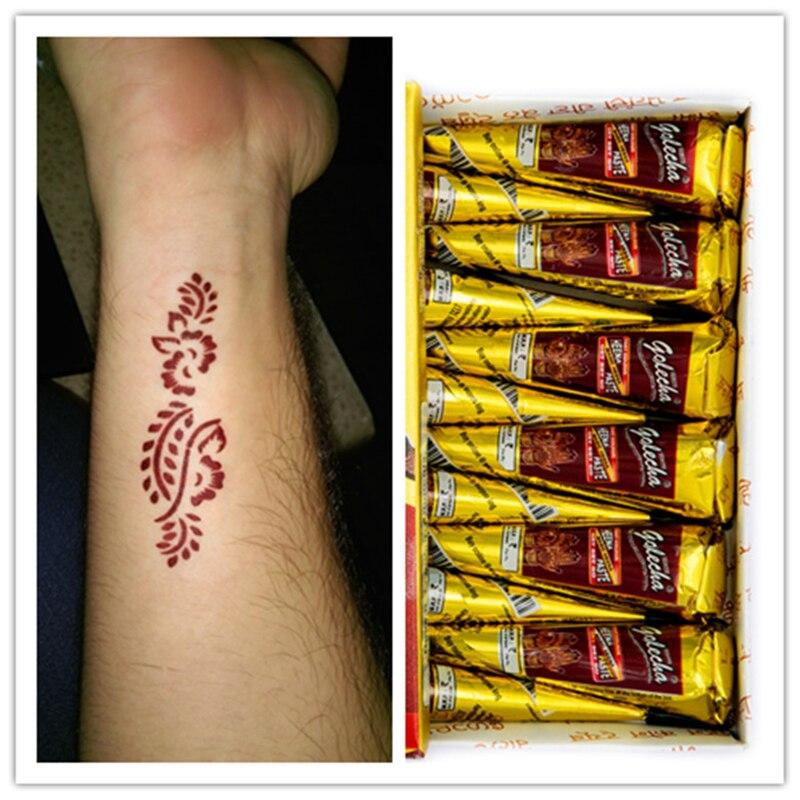 Henna Tattoo Paste Cost: 1Pcs Brown Colored Body Paint Golecha Indian Mehndi Tattoo