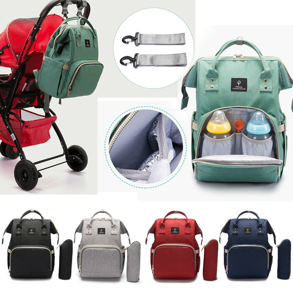 Baby Diaper Nappy Mummy Changing bag Backpack Set Multi-Function Hospital