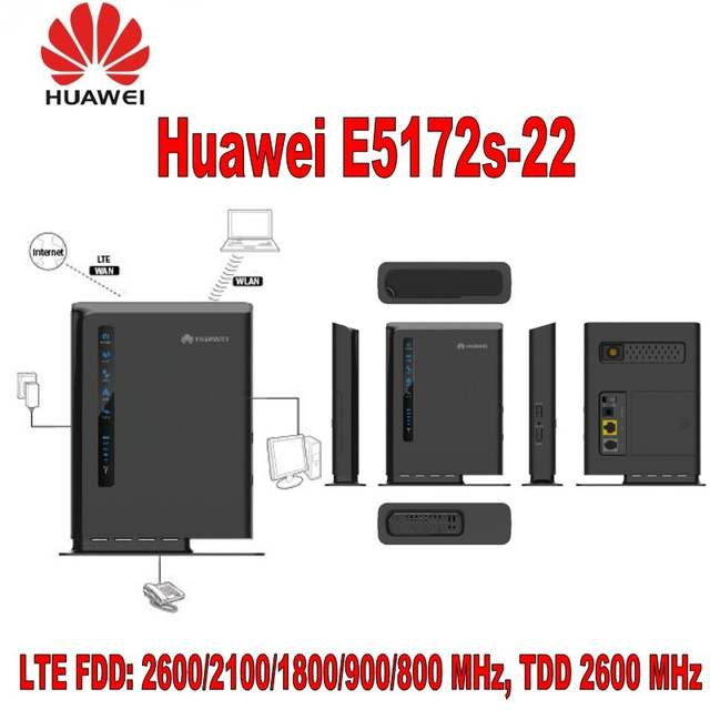 US $704 0 12% OFF|Lot of 10pcs Huawei E5172s 22 150Mbps 4G FDD & TDD LTE  Router (Unlocked) including battery -in Modem-Router Combos from Computer &