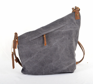 Image 4 - Korean Retro New Vintage Mens military canvas +leather Shoulder Bag Mens Messenger Bag Men Crossbody Bag male Sling Bag