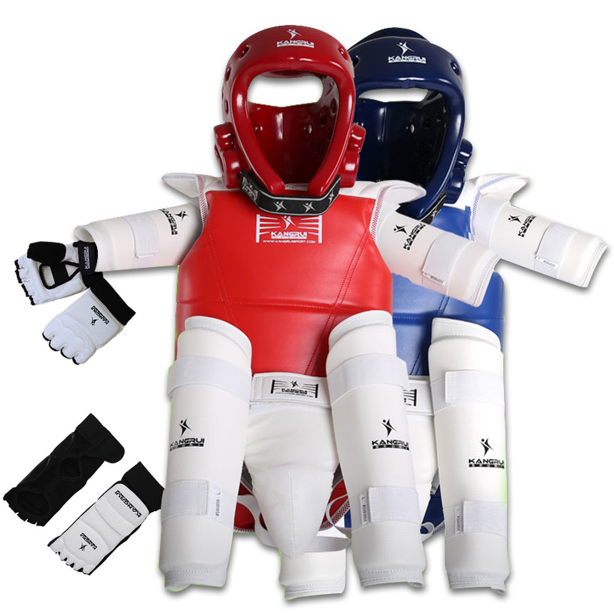 5 pieces one set taekwondo protector full set Child Adult Men Women Chest Helmet Elbow Groin protection For Training Competition taekwondo protective gear set wtf hand chest protector foot shin arm groin guard helmet 8pcs children adult taekwondo karate set