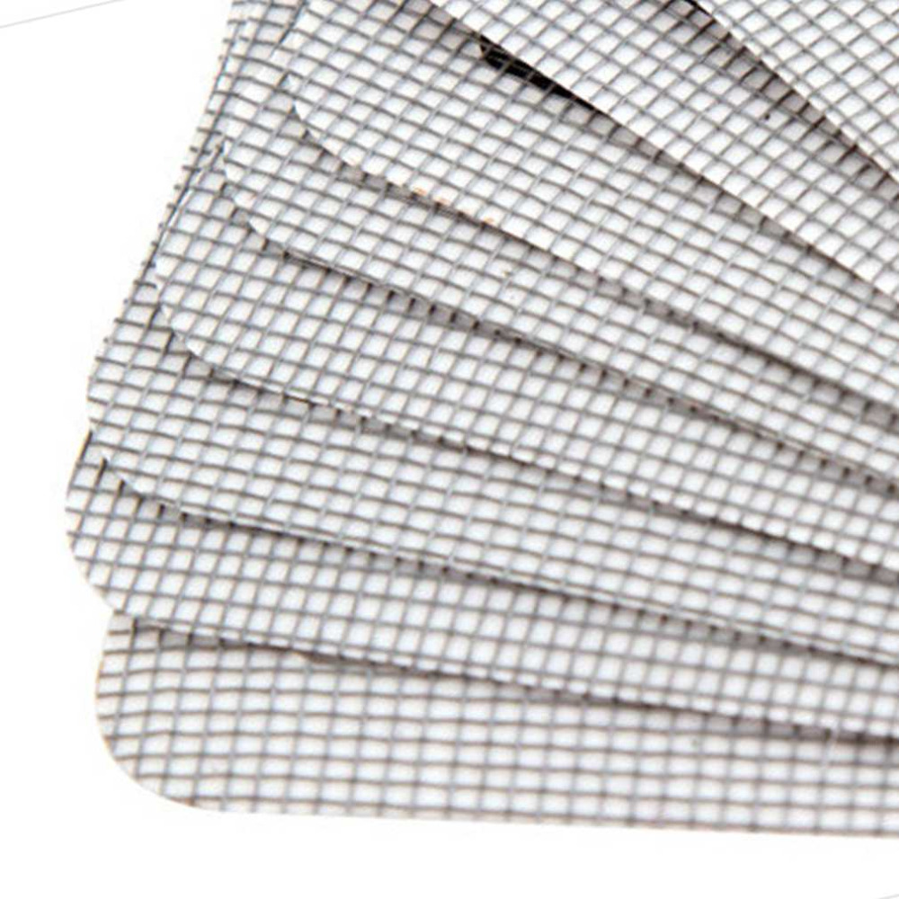 Anti-mosquito Mesh Sticky Wires Patches Summer Window Mosquito Netting Patch Repairing Broken Holes On Screen Window Door 3PCS