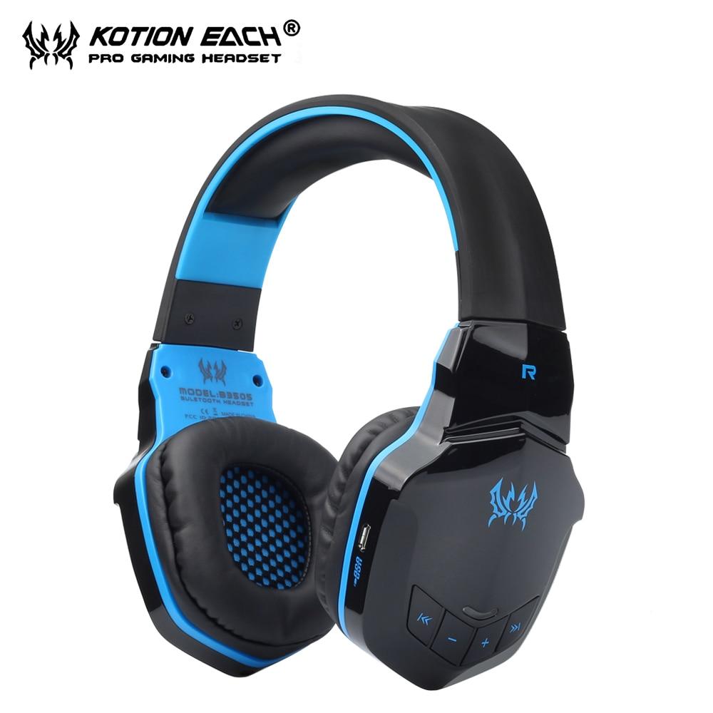 KOTION каждый B3505 Беспроводной гарнитура Bluetooth наушники С микрофоном Gamer Bluetooth наушников стерео 3,5 мм для телефона ПК PS4