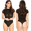 Hot Summer European American Sexy Women Jumpsuit  Short Sleeve Shorts Lace Up Hollow Shots Sets Beach Overalls Mesh Rompers XXL
