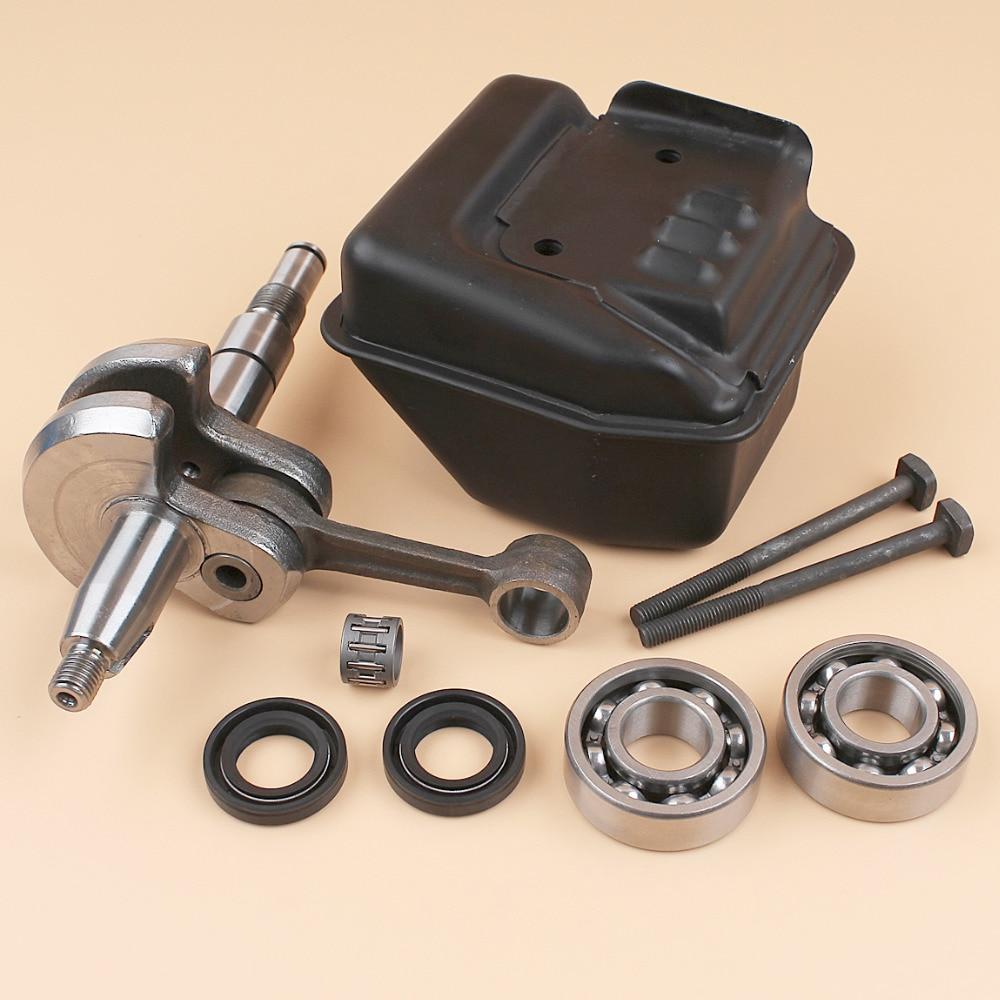 Crankshaft Crank Shaft Bearing Oil Seal Exhaust Muffler Bolt Heat Plate Fit STIHL MS250 MS230 210 025 023 021 Chainsaw 10mm Pin ботинки crocs ботинки