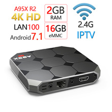 A95X R2 Amlogci s905w quad core  2GB 16GB Android 7.1 OS TV Box  2.4G Wifi 3D 4K 1080P Full HD Smart Media Player tv box цены онлайн