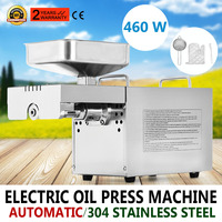 Electric Automatic Oil Expeller Press Machine Nut Seed for Commercial Home