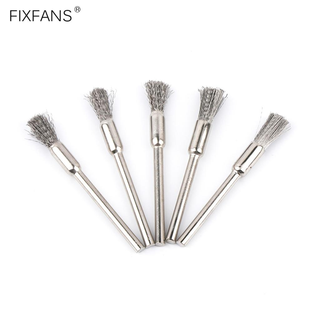 FIXFANS 5Pcs Stainless Steel Mini Clean Brush Heating Wire Coils Cleaning Brush Vape DIY Tools For RBA RDA RTA Atomizer Tank