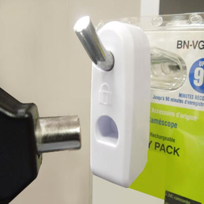 500 white EAS security Hard tag supermarket Stop lock and 5 pcs mini detacher for merchandise