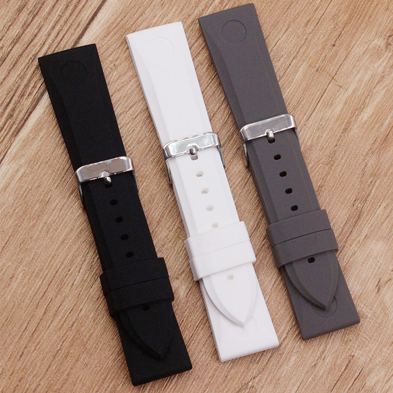 Watch Accessories For Armani AR0584 AR0595 AR0593 Rubber  Silicone  Watch Strap Waterproof Mens Watch StrapWatch Accessories For Armani AR0584 AR0595 AR0593 Rubber  Silicone  Watch Strap Waterproof Mens Watch Strap