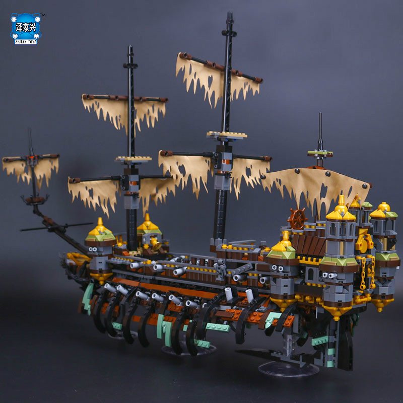 New Pirate Ship Series Building Blocks The Slient Mary Set Children legoing Educational Bricks Figures Toys Model Gift hot city series the new police station set children educational lepins building blocks bricks figures boy funny toys model gift
