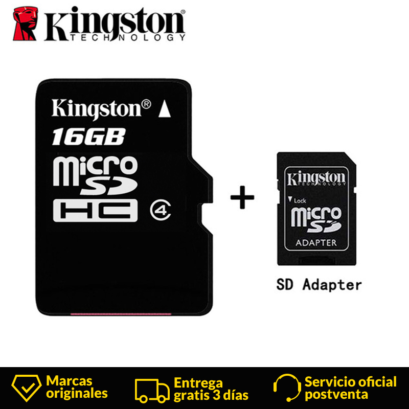 Kingston Technology Canvas Select 16GB microSDHC Class 4 Memory Card with Adapter 16 GB micro sd card 4MB/s data read speeds-in Memory Cards from Computer & Office