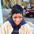 New Brazilian Short Cut Virgin Human Natural Hair Wigs Straight Short hair wigs for Black Women African American wigs