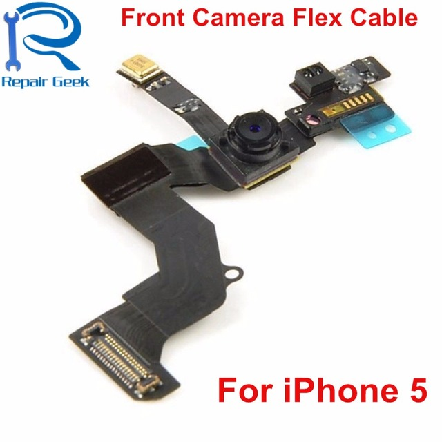 5pcs/Lot Front Camera With Proximity Sensor Flex Cable For iPhone 5 5G Replacement Mobile Phone Flex Cable Ribbon Repair Parts