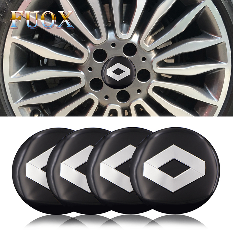 4pcs/lot 56.5mm Car Rim Cover Decal Wheel Center Hub Cap Sticker For Renault Wheel Clio Megane Laguna Scenic TwinGo Emblem Badge