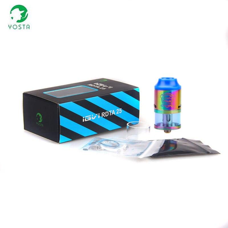 100% D'origine YOSTA IGVI RDTA 25 Atomiseur 4 ml capacité Une Circulation Accrue Système Énorme Vaporisateur pour RDA Cigarette Électronique