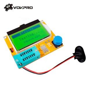 ESR Meter Transistor Tester Digital LCR Mega328 V2.68 ESR-T4 Diode Triode Capacitance MOS/PNP/NPN LCR 12864 LCD Screen Tester(China)