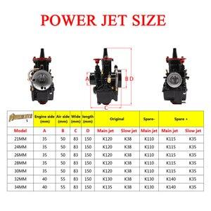 Image 5 - PowerMotor 21 24 26 28 30 32 34mm Universal Black Mikuni Maikuni PWK Carburetor Parts Scooters With Power Jet Motorcycle ATV