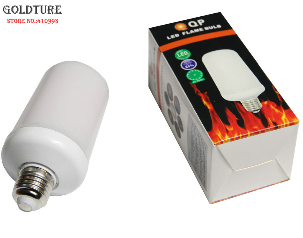 LED Flicker Flame Bulb 3W 7W Flickering Fire Simulation 1300K Dynamic Flame Decorative Light Work Upside and Down with Grativity