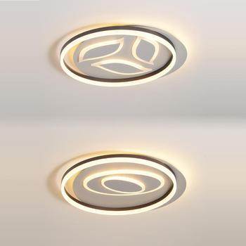 Светодиодная Геометрическая акриловая железная круглая Lamparas минимализм де Techo Светодиодная лампа. Потолочные светильники. Светодиодный по...