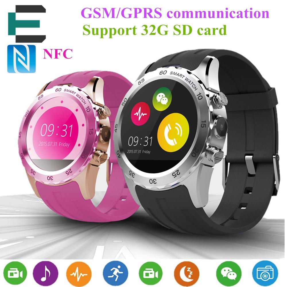 KW08 MTK6260 NFC Smart watches 1 22 HD IPS Sport watch support SIM card GSM Camera