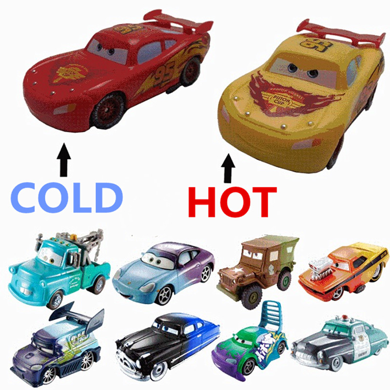 Disney Pixar Cars Rare Plastic Changers Color McQueen Cruz Ramirez Jackson Storm Mater Ramone Boost Great Kid's Gift Collection
