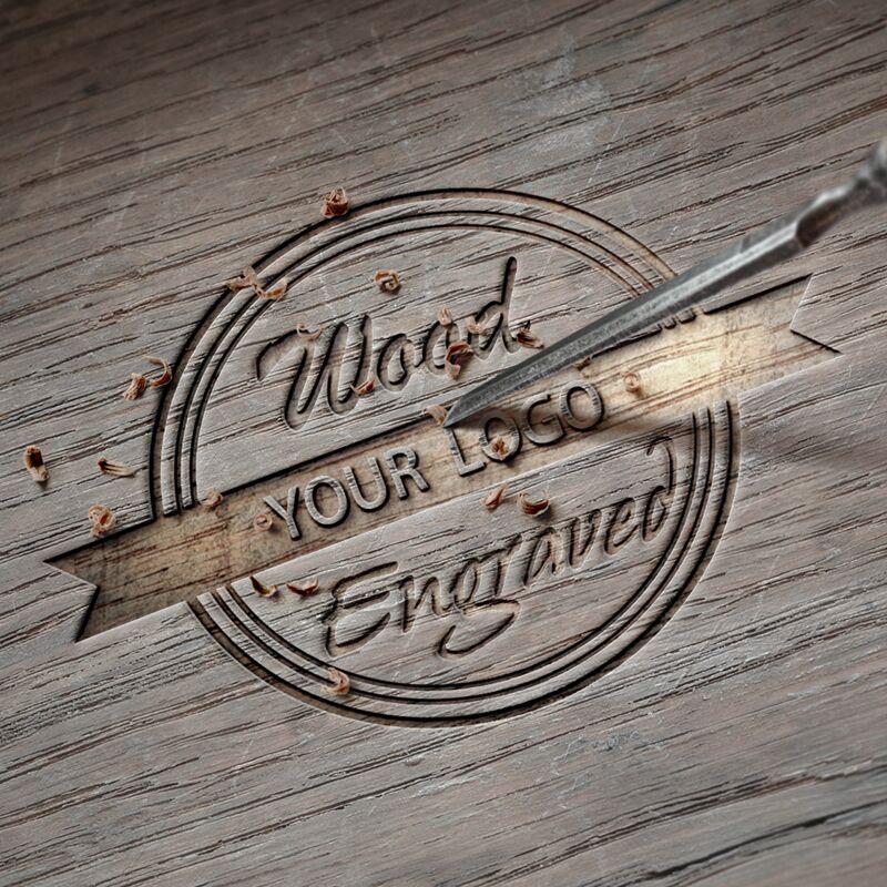 Personalidad diseño creativo mensaje Logo grabado tallado personalizar bambú madera reloj personalización impresión láser OEM No producto