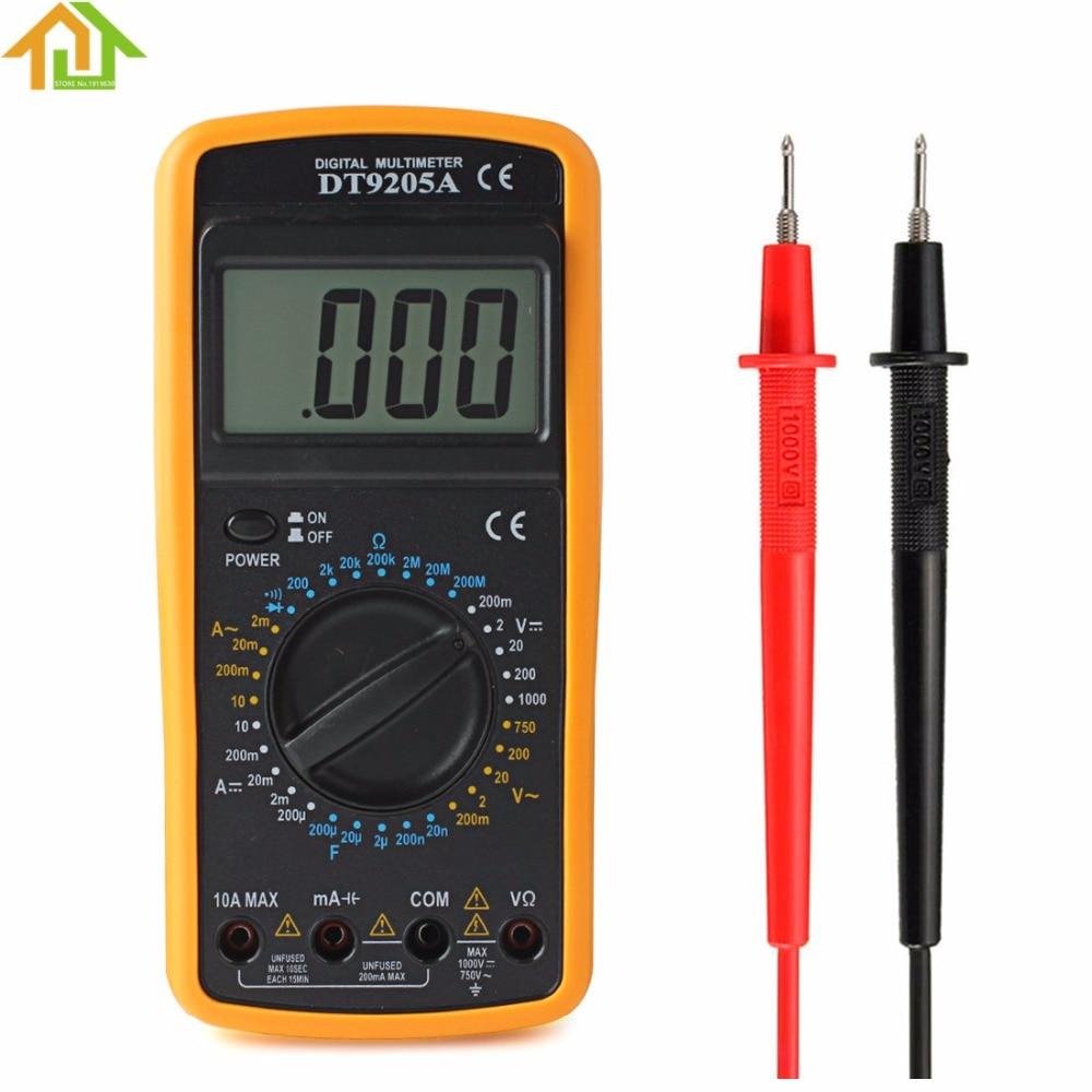 Multímetro Digital Voltímetro Ohmmeter Amperímetro Capacitância Tester Dt9205a