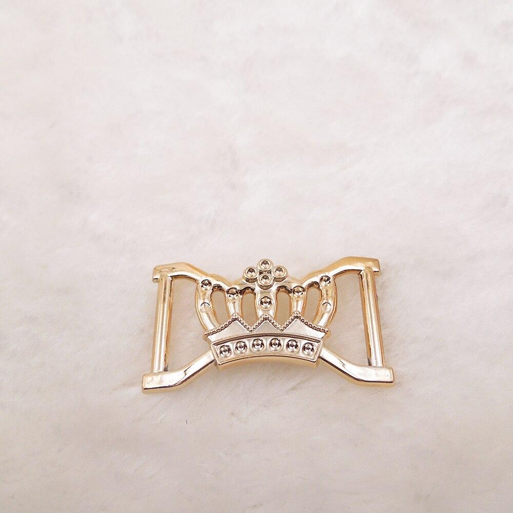 43/25mm,15pcs uv plated rose gold no fade ribbon buckles acessories Invitation Ribbon Slider Headband Hair Clip DIY